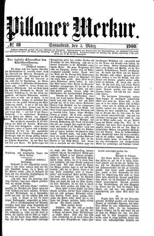 Pillauer Merkur vom 03.03.1900