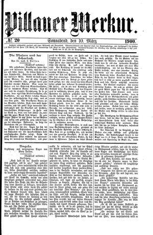 Pillauer Merkur vom 10.03.1900