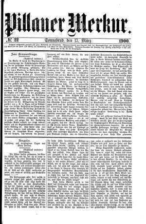 Pillauer Merkur vom 17.03.1900
