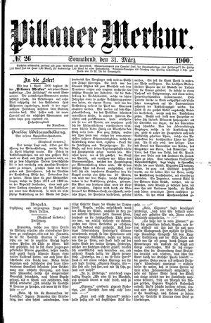 Pillauer Merkur vom 31.03.1900