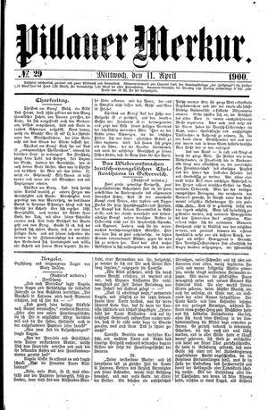 Pillauer Merkur vom 11.04.1900