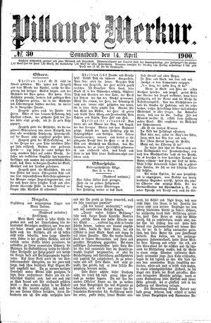 Pillauer Merkur vom 14.04.1900