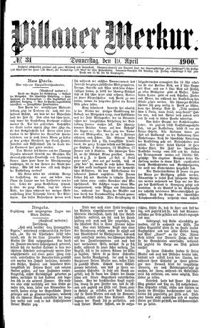 Pillauer Merkur vom 19.04.1900