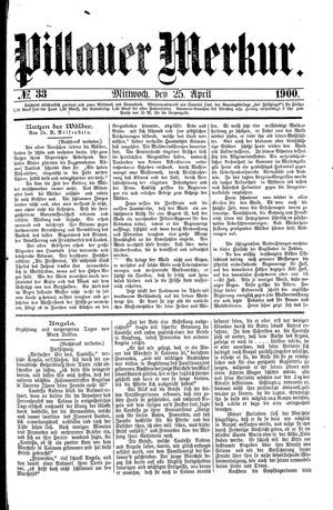 Pillauer Merkur vom 25.04.1900