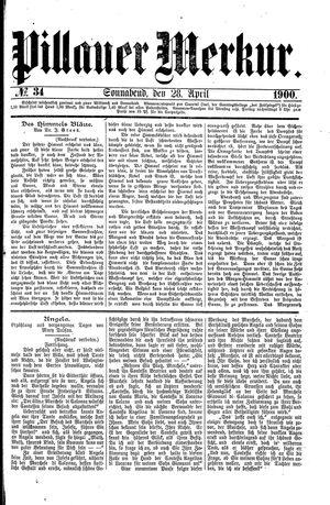 Pillauer Merkur vom 28.04.1900