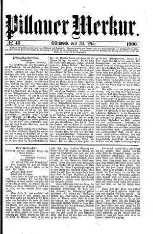 Pillauer Merkur vom 30.05.1900