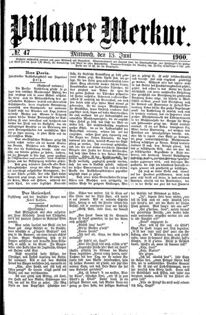 Pillauer Merkur on Jun 13, 1900