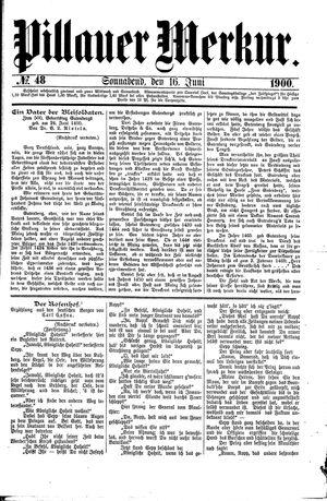 Pillauer Merkur vom 16.06.1900