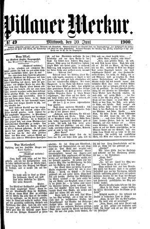 Pillauer Merkur vom 20.06.1900