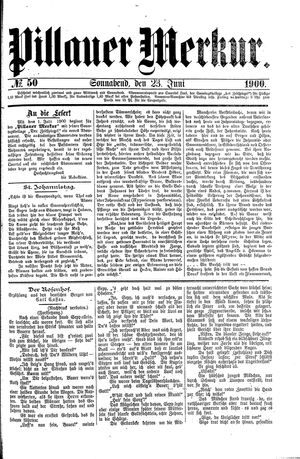 Pillauer Merkur vom 23.06.1900