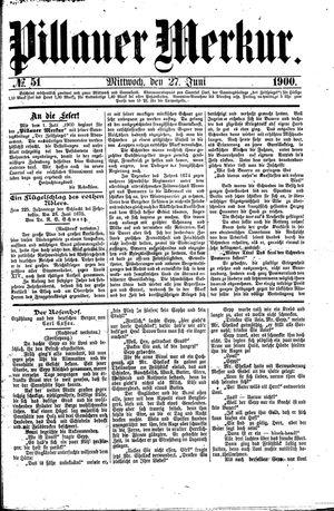 Pillauer Merkur vom 27.06.1900