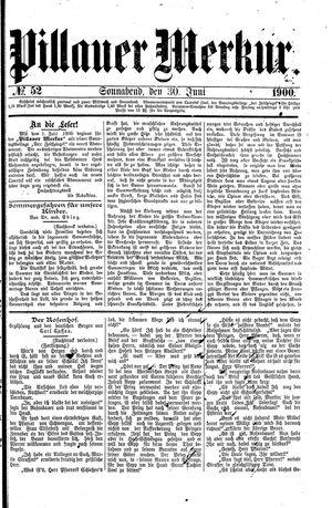Pillauer Merkur vom 30.06.1900