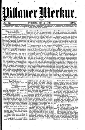 Pillauer Merkur vom 04.07.1900
