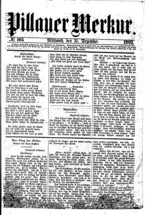 Pillauer Merkur vom 31.12.1902