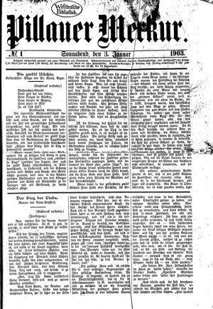 Pillauer Merkur on Jan 3, 1903