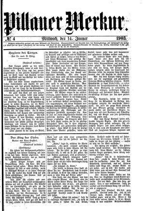Pillauer Merkur vom 14.01.1903