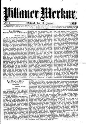 Pillauer Merkur vom 21.01.1903