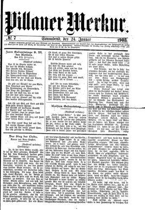 Pillauer Merkur vom 24.01.1903