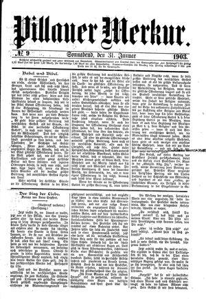 Pillauer Merkur vom 31.01.1903