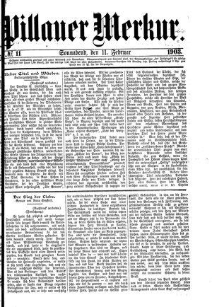 Pillauer Merkur vom 07.02.1903