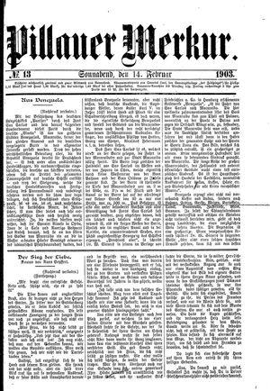 Pillauer Merkur vom 14.02.1903