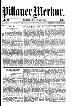 Pillauer Merkur vom 18.02.1903