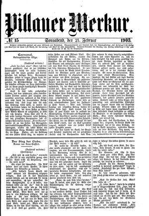 Pillauer Merkur vom 21.02.1903