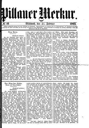 Pillauer Merkur vom 25.02.1903