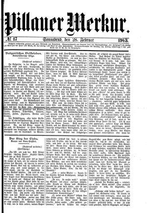 Pillauer Merkur vom 28.02.1903