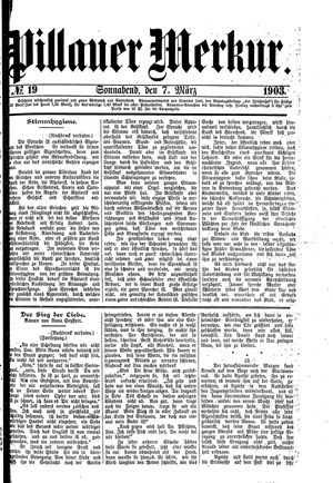 Pillauer Merkur vom 07.03.1903