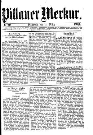 Pillauer Merkur on Mar 11, 1903