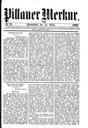 Pillauer Merkur vom 14.03.1903