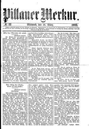 Pillauer Merkur vom 18.03.1903