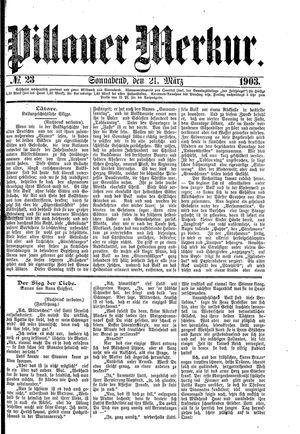 Pillauer Merkur on Mar 21, 1903