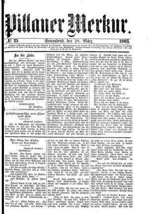Pillauer Merkur vom 28.03.1903