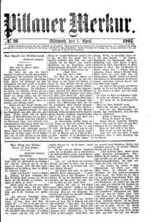 Pillauer Merkur vom 01.04.1903