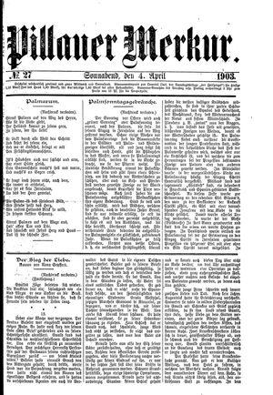 Pillauer Merkur vom 04.04.1903
