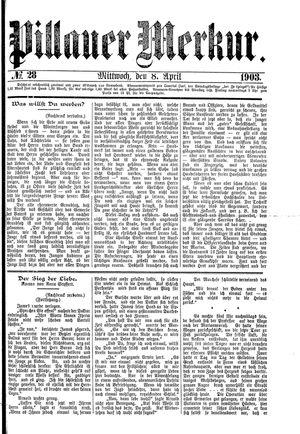Pillauer Merkur vom 08.04.1903