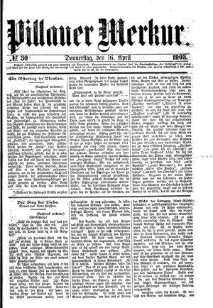 Pillauer Merkur vom 16.04.1903