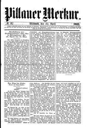 Pillauer Merkur vom 22.04.1903