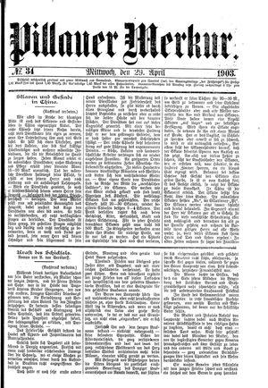 Pillauer Merkur vom 29.04.1903