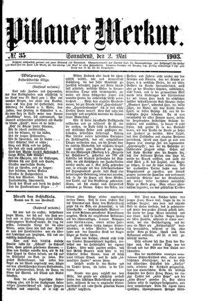 Pillauer Merkur vom 02.05.1903