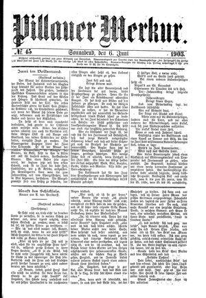 Pillauer Merkur vom 06.06.1903