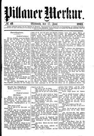 Pillauer Merkur vom 17.06.1903