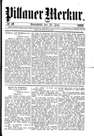 Pillauer Merkur vom 20.06.1903