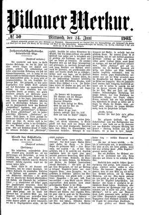 Pillauer Merkur vom 24.06.1903