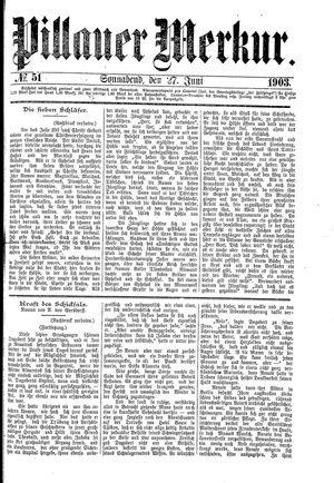 Pillauer Merkur vom 27.06.1903