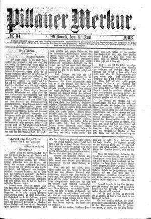 Pillauer Merkur vom 08.07.1903
