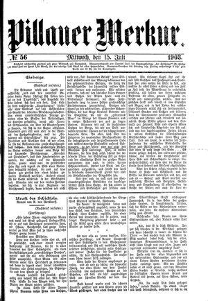 Pillauer Merkur vom 15.07.1903