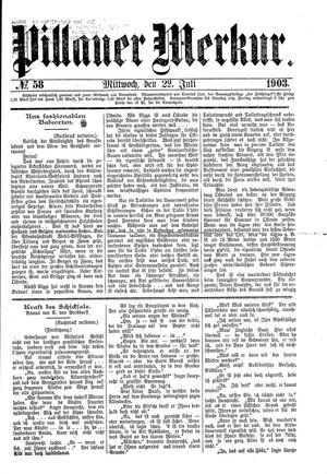 Pillauer Merkur vom 22.07.1903